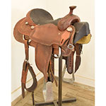 "Used 15"" Cowboy Collection Team Roping Saddle"
