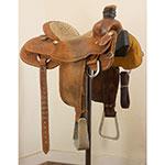 """Used 15"""" Loredo Saddles Team Roping Saddle"""