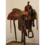 """SOLD! Used 15"""" No Makers Stamp Ranch Cutting Saddle"""