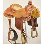 """Used 15"""" NRS Saddles Pro Team Roping Saddle"""