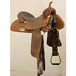 "SOLD Used 16"" Rico Maker Barrel Racing Saddle"