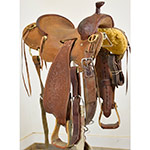 """SOLD! Used 15"""" Trent Ward Saddlery Stripdown Ranch Cutting Saddle"""