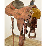 "Used 15"" Twister Saddles Trophy Roping Saddle"