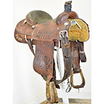 "Used 15"" Martin Saddlery Trophy Roping Saddle"