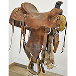 "Used 15"" Will Ward Team Roping Saddle"