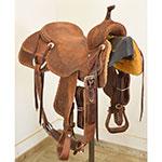 """Used 16"""" Jeff Smith Custom Cutting Saddle"""