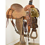 """Used 16.5"""" Three Forks Saddlery by Nancy Peterson Roping Saddle"""