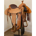 """SOLD! Used 16"""" Billy Cook Team Roping Saddle"""