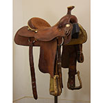 "Used 16"" Billy Cook Maker Team Roping Saddle"