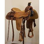 """Used 17"""" TeePee Team Roping Saddle"""