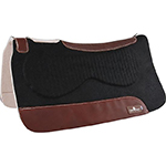 "31""x32"" Classic Equine Felt Top Felt Bottom Black Zone Therapuetic Saddle Pad"
