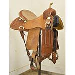 "Used 15"" Billy Cook Saddlery Barrel Racing Saddle"