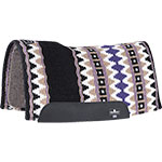 "Classic Equine 1/2"" Contour Wool Top Black and Purple Felt Saddle Pad 32"" x 34"""