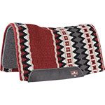 "Classic Equine 1/2"" Contour Wool Top Felt Red and Black Saddle Pad 34"" x 38"""