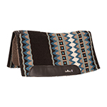 """Classic Equine 3/4"""" Contour Wool Top Pad 32x34- Black/Teal"""