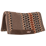 "Classic Equine 3/4"" Contour Wool Top Pad Slate and Tan 34"" X 38"""