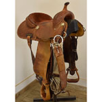 "Used 14"" Coats Barrel Racing Saddle"