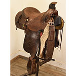 "Used 14"" No Makers Stamp Roping Saddle"