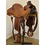"Used 15"" Micheal Thompson Team Roping Saddle"
