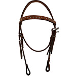 Martin Saddlery Pony Browband Headstall with Dots