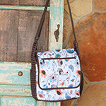 Classic Equine Messenger Bag- In Bloom