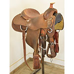 "Used 14"" Coats Saddlery Team Roping Saddle"